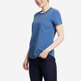 Women's Departure Short-Sleeve Pocket T-Shirt in Blue