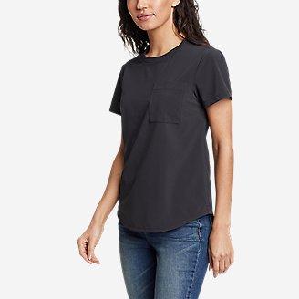 Women's Departure Short-Sleeve Pocket T-Shirt in Gray