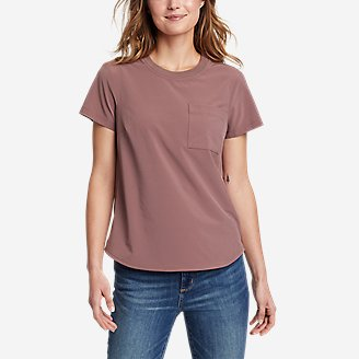 Women's Departure Short-Sleeve Pocket T-Shirt in Pink
