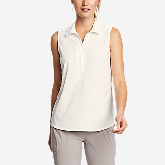 Women's Departure 1/2-Zip Tank Top in White