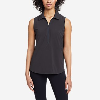 Women's Departure 1/2-Zip Tank Top in Gray