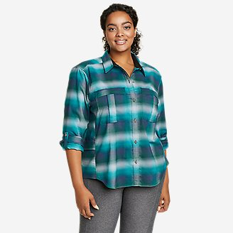 Women's Expedition Pro Long-Sleeve Flannel Shirt in Green