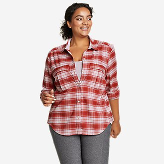 Women's Expedition Pro Long-Sleeve Flannel Shirt in Red