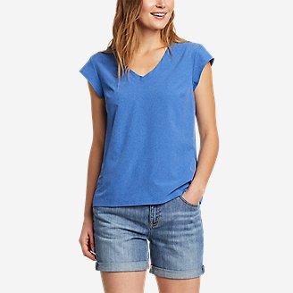 Women's Departure Short-Sleeve V-Neck T-Shirt in Blue