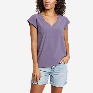 Women's Departure Short-Sleeve V-Neck T-Shirt in Purple