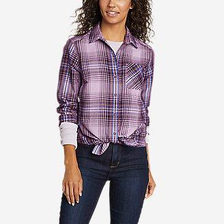 Women's Eddie Bauer Expedition Performance Flannel 2.0 Shirt in Purple
