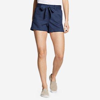 Women's Linen Shorts in Blue
