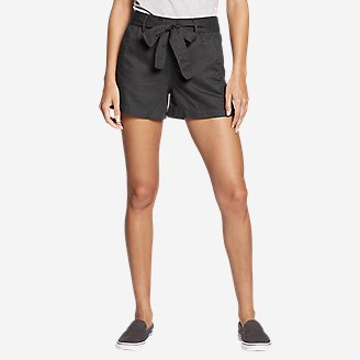 Women's Linen Shorts in Gray