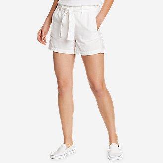 Women's Linen Shorts in White