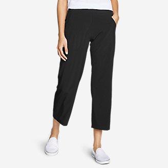 Women's Departure Wide-Leg Crop Pants in Black