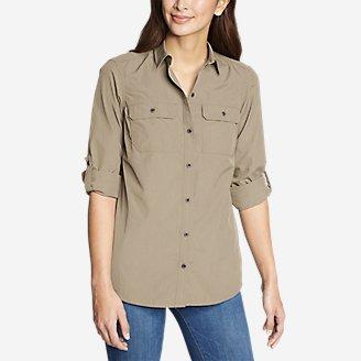Women's Mountain Ripstop Long-Sleeve Shirt in Beige