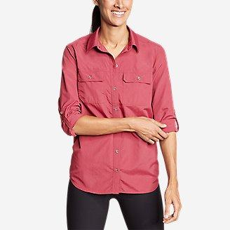 Women's Mountain Ripstop Long-Sleeve Shirt in Red