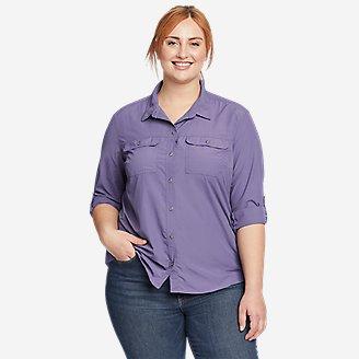 Women's Mountain Ripstop Long-Sleeve Shirt in Purple