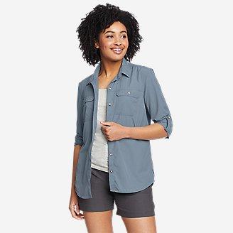 Women's Mountain Ripstop Long-Sleeve Shirt in Blue