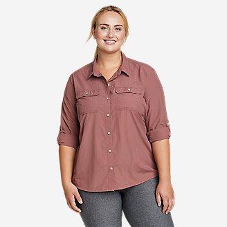 Women's Mountain Ripstop Long-Sleeve Shirt in Pink