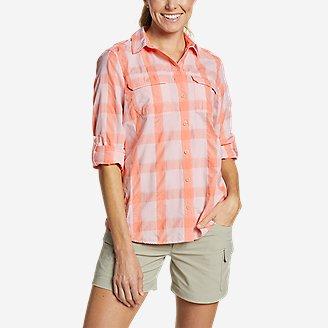 Women's Mountain Long-Sleeve Shirt in Red