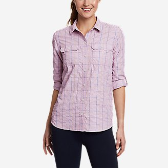 Women's Mountain Long-Sleeve Shirt in Purple