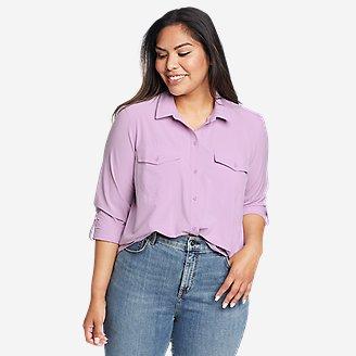 Women's Departure 2.0 Long-Sleeve Shirt in Purple
