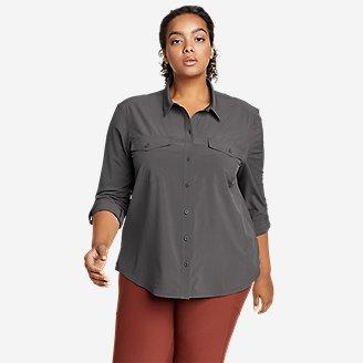 Women's Departure 2.0 Long-Sleeve Shirt in Gray