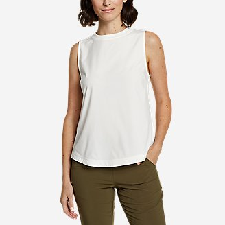 Women's Departure Lite Rib-Trim Tank Top in White