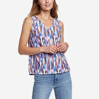 Women's Departure V-Neck Tank Top - Print in Purple