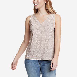 Women's Departure V-Neck Tank Top - Print in Gray