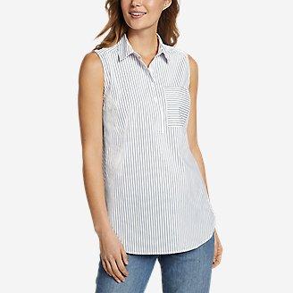 Women's Girl On The Go Sleeveless Shirt in Blue
