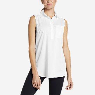 Women's Girl On The Go Sleeveless Shirt in White