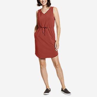 Women's Departure Easy Tank Dress in Orange