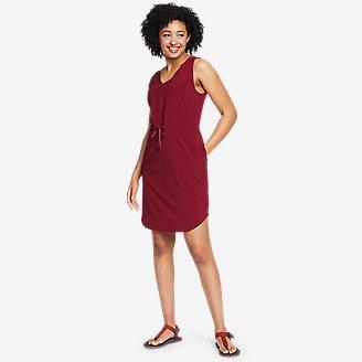 Women's Departure Easy Tank Dress in Red