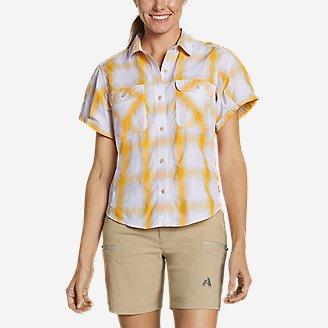 Women's Mountain Short-Sleeve Camp Shirt in Beige