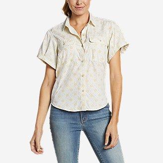 Women's Mountain Short-Sleeve Camp Shirt in White