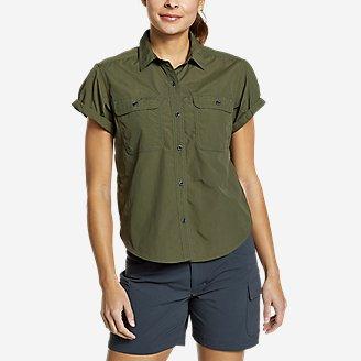 Women's Mountain Ripstop Short-Sleeve Camp Shirt in Green