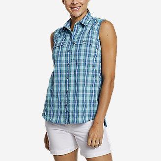 Women's Mountain Sleeveless Shirt in Blue