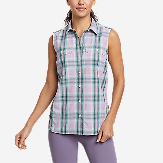 Women's Mountain Sleeveless Shirt in Purple