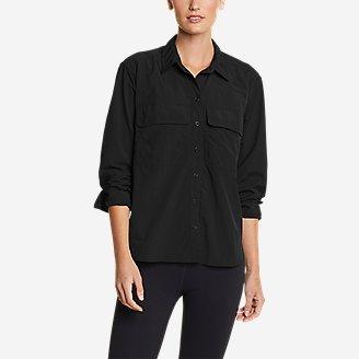 Women's Mountain Ripstop Long-Sleeve Guide Shirt in Black