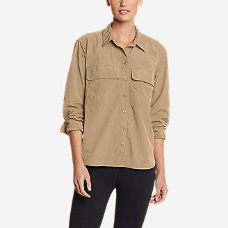 Women's Mountain Ripstop Long-Sleeve Guide Shirt in Beige
