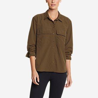 Women's Mountain Ripstop Long-Sleeve Guide Shirt in Green