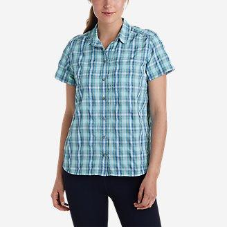 Women's Mountain Short-Sleeve Shirt in Blue