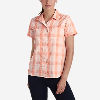 Women's Mountain Short-Sleeve Shirt in Red