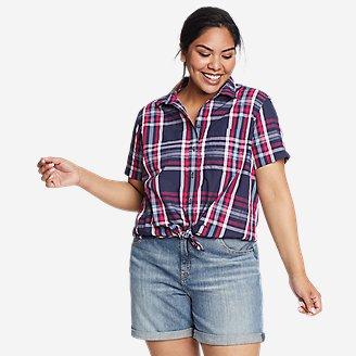 Women's Mountain Short-Sleeve Shirt in Gray