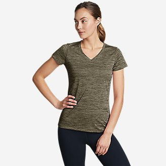 Women's Resolution V-Neck T-Shirt in Green