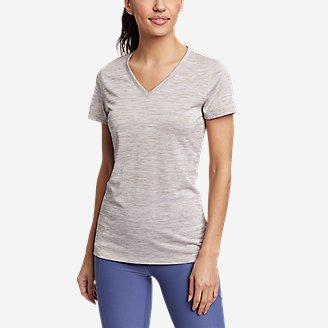 Women's Resolution V-Neck T-Shirt in Gray