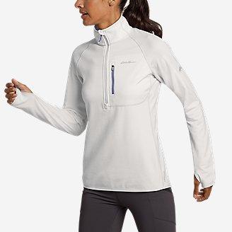 Women's High Route Grid Fleece 1/4-Zip in White