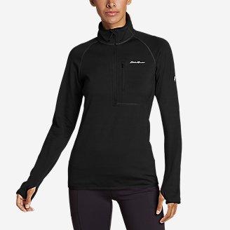 Women's High Route Grid Fleece 1/4-Zip in Black