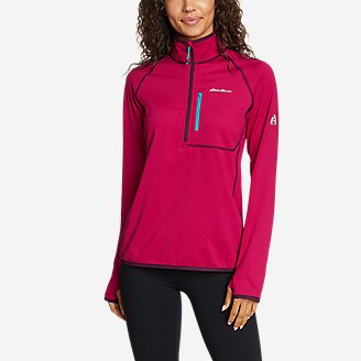 Women's High Route Grid Fleece 1/4-Zip in Purple