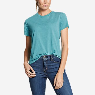 Women's Myriad Short-Sleeve Crew - Solid in Green