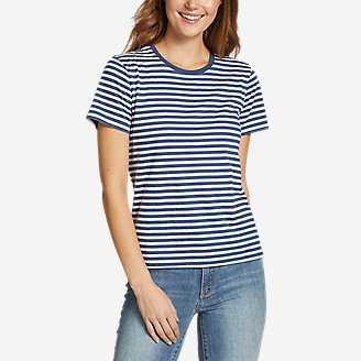 Women's Myriad Short-Sleeve Crew - Stripe in Blue