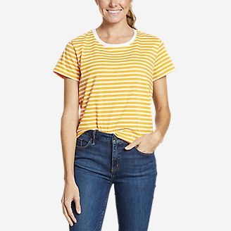 Women's Myriad Short-Sleeve Crew - Stripe in Yellow