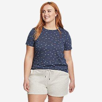 Fashion Women Fish Printing Round Neck Long Sleeve Casual Blouse Sweatshirt Top